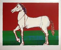 Quadro di  Saulo - Cavallo litografia carta